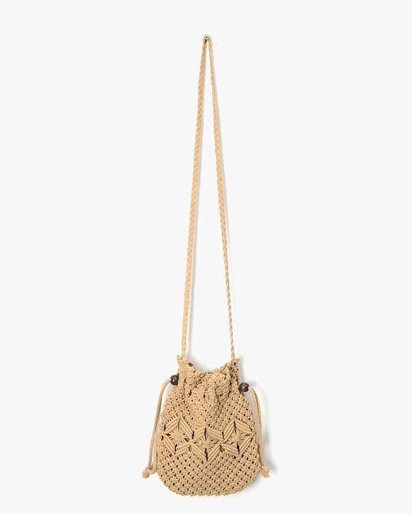 mini knit bucket bag
