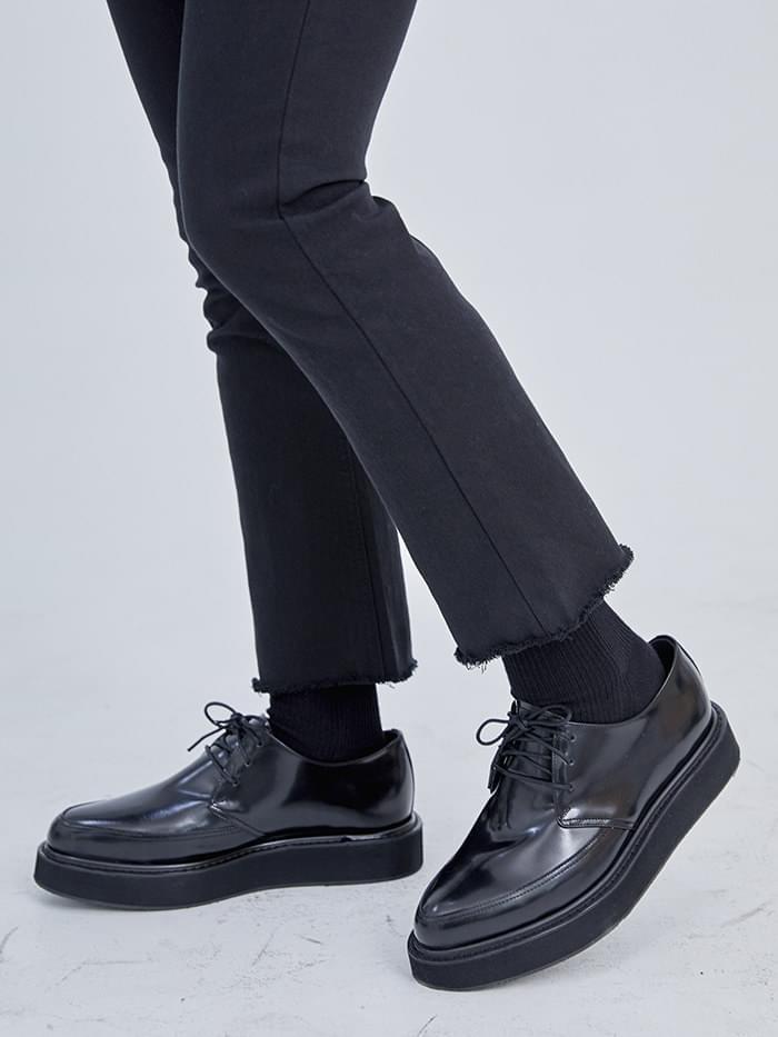 cow hide clipper - men 平底鞋
