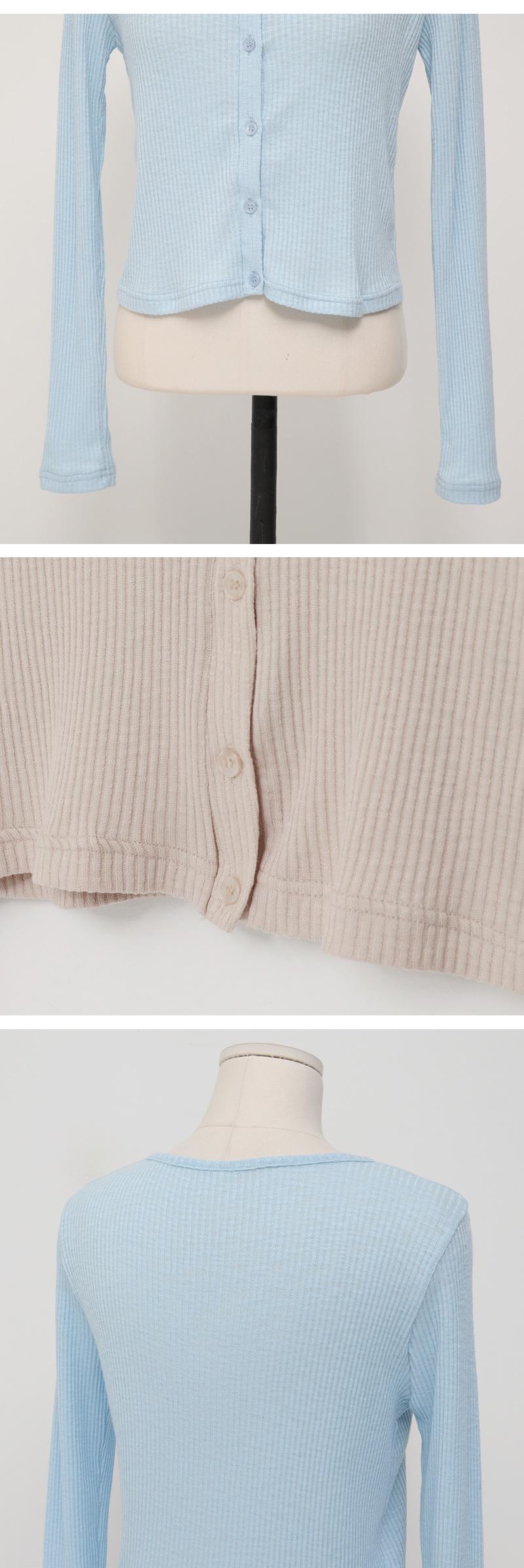 Free crop cotton cardigan_K