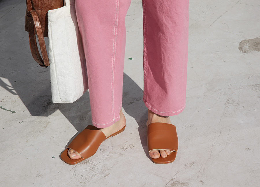 Day simple line slipper_M