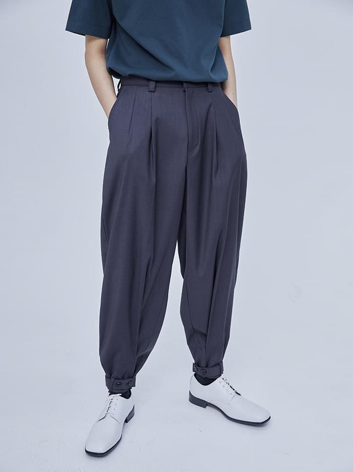 jogger belted slacks (2 color) - men