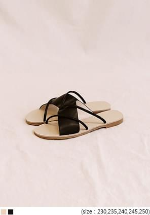 MARU 2 LINE UNBAL STRAP SLIPPER