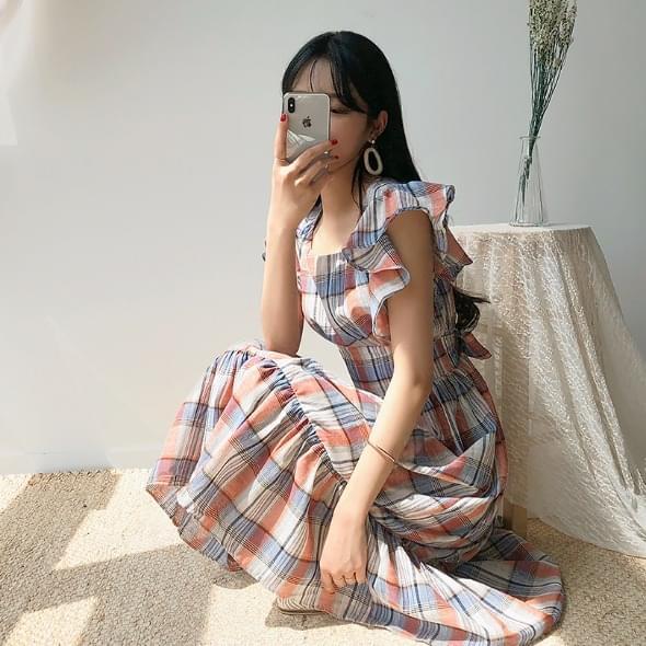 Summer Long Check Dress