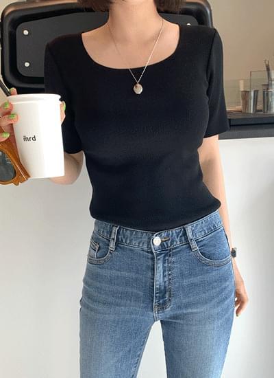 韓國空運 - Timosquare short sleeve knit 針織衫