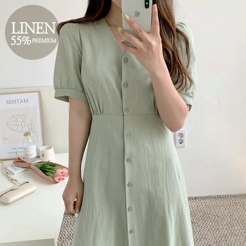 Roaz linen dress