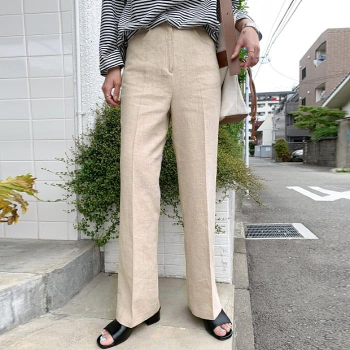 GENTLE SLACKS / ver. Straight linen
