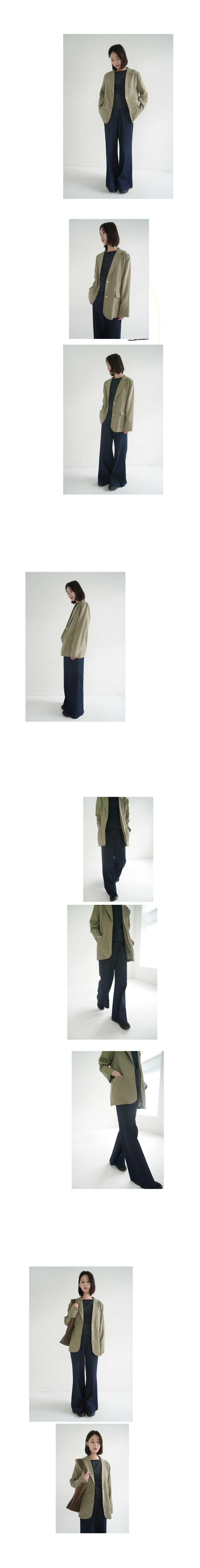 nomal fit linen jacket