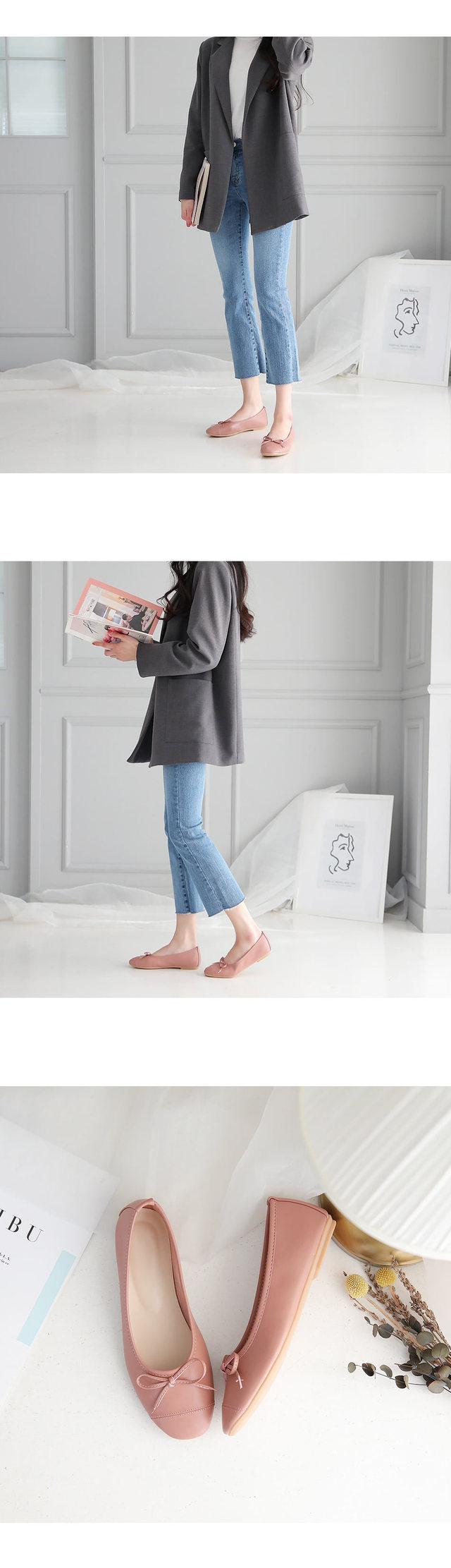 Celanz ribbon flat shoes 1cm