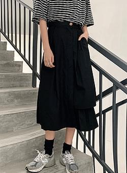 Long skirt with flair