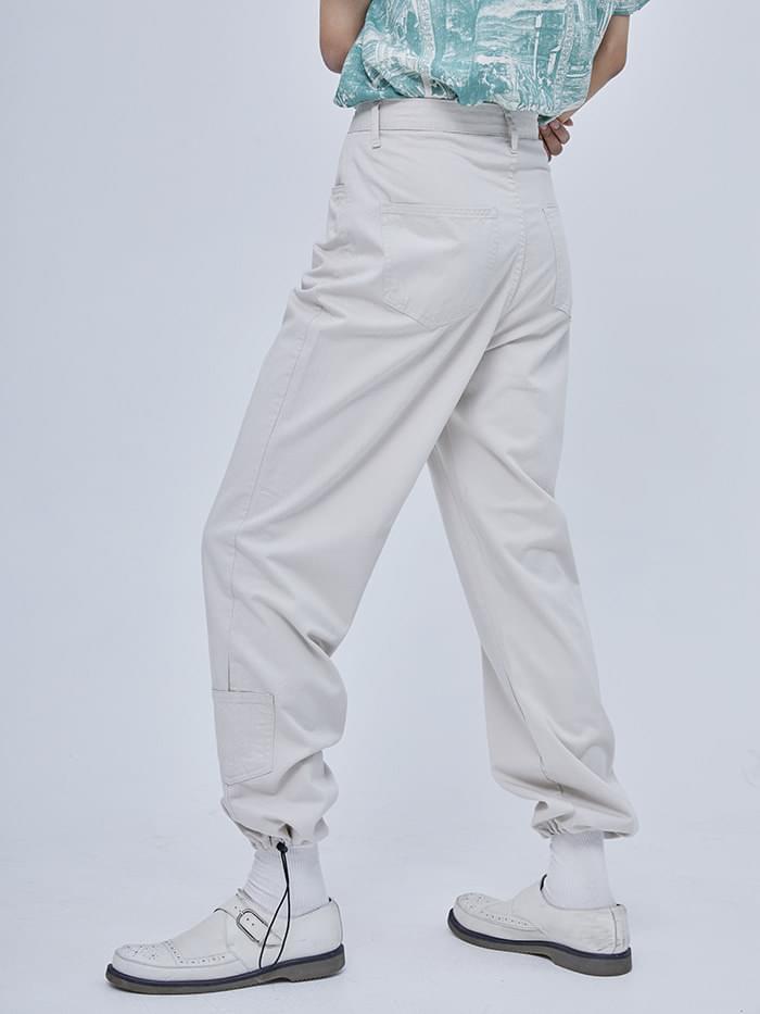 cotton string pocket pants - woman