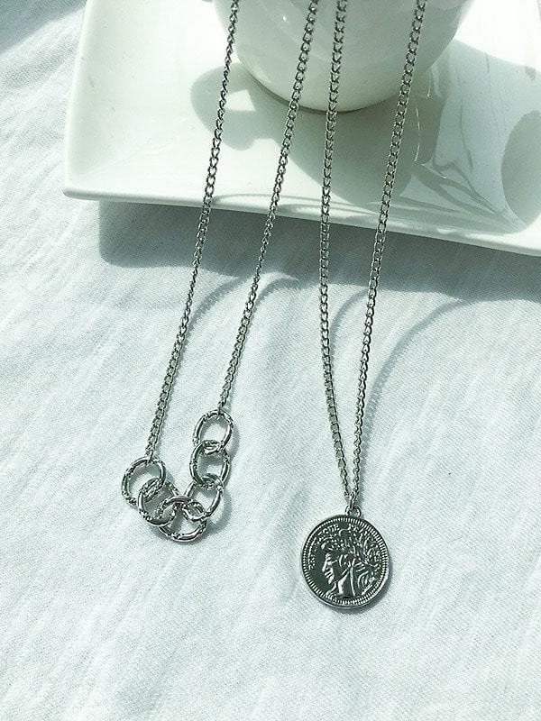 Kose silver necklace set