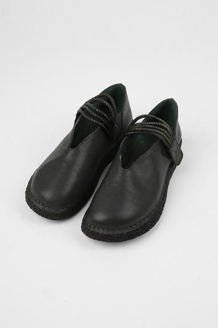 square vintage wooden shoes