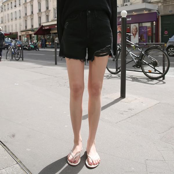 Black Short Denim Pants