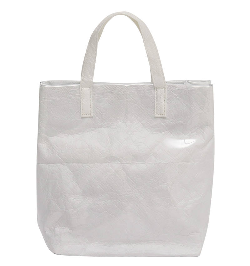 Crumple pvc tote bag_S