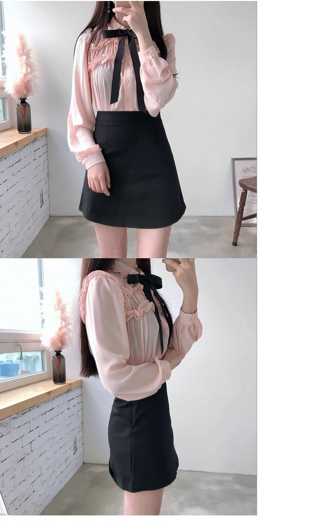Stock ♥ Victory shearing ribbon blouse