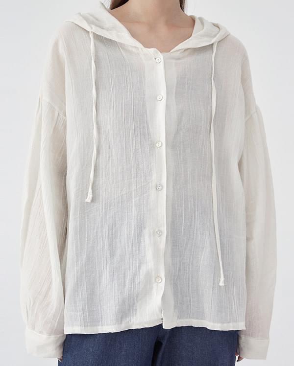 cotton sofi hood blouse
