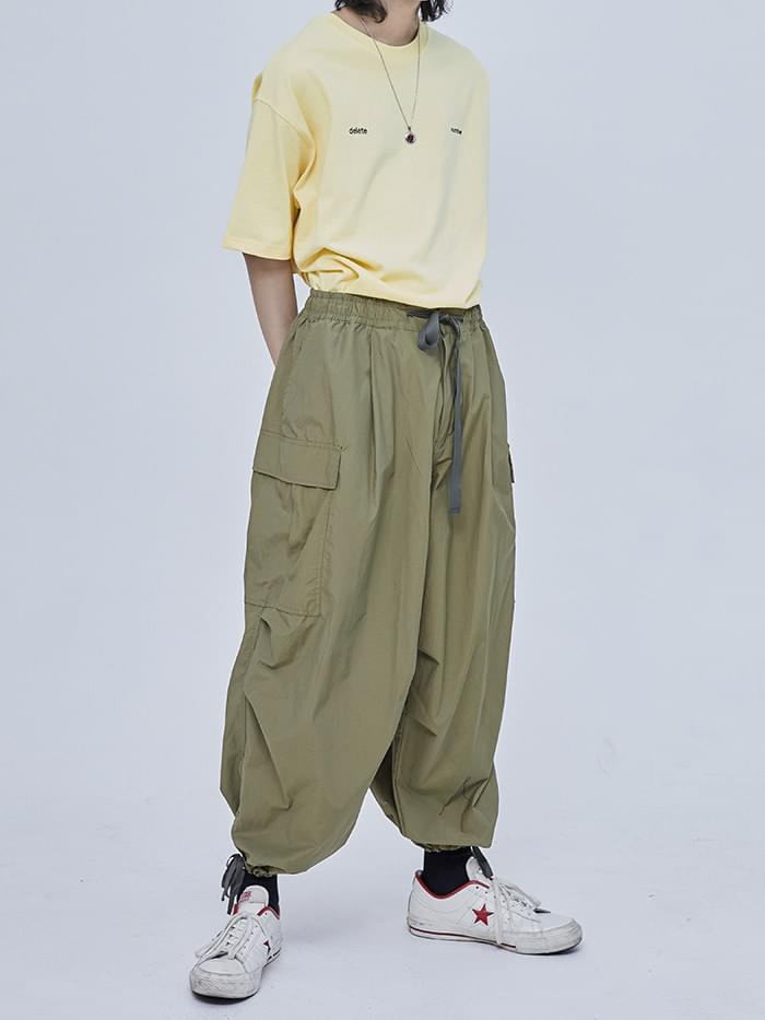 string cargo banding pants (2 color)