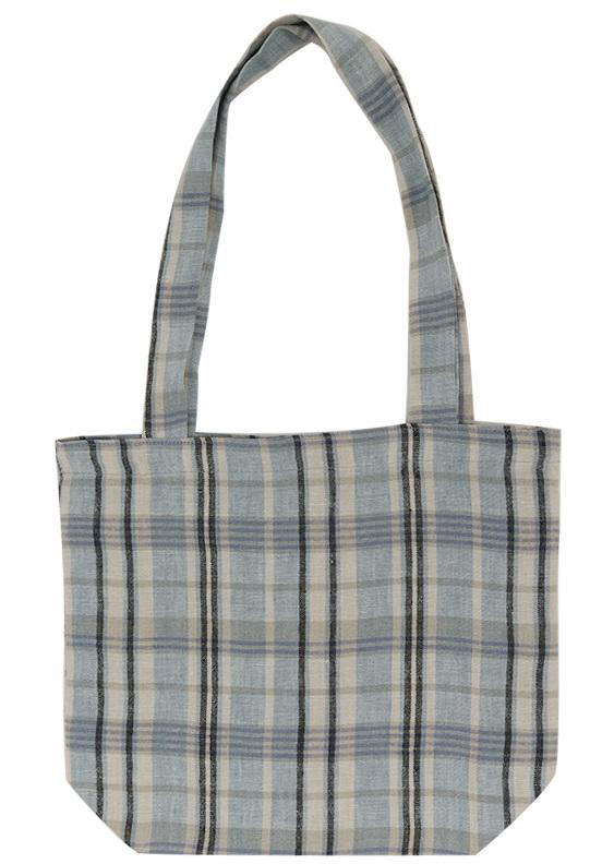Studio linen check bag_S (size : one)