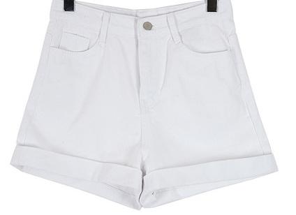 Cotton roll-up short pants