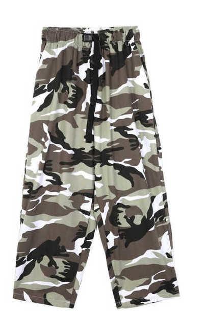 color camo camper pants - men
