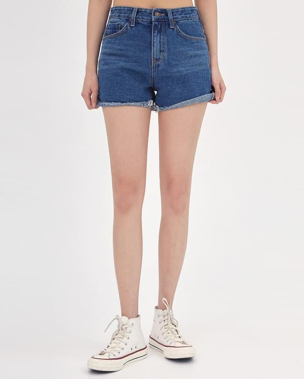 poin denim short pants