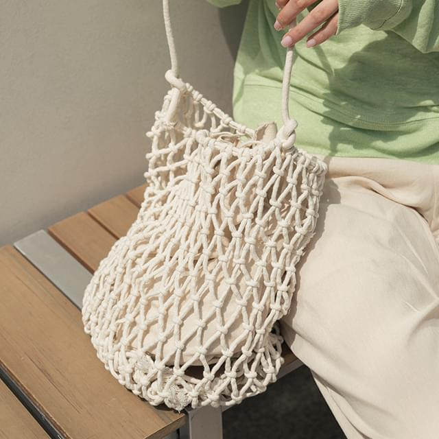2 color pouch set net bag 托特包