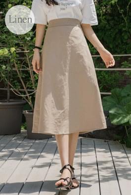 Melty Linen Strap Skirt