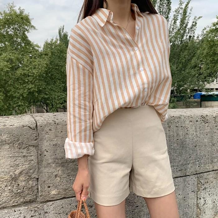 PBP. Linen French striped shirt