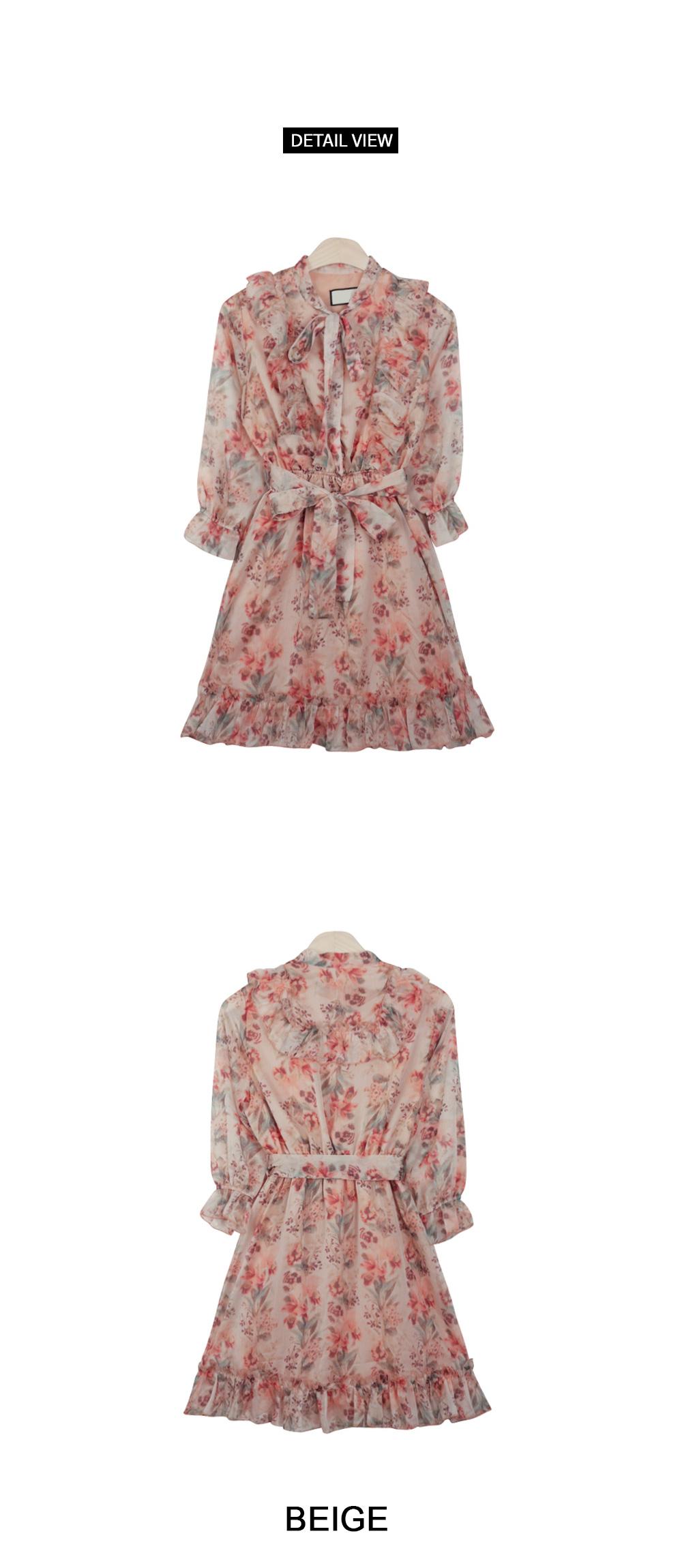 Ely flower chiffon dress