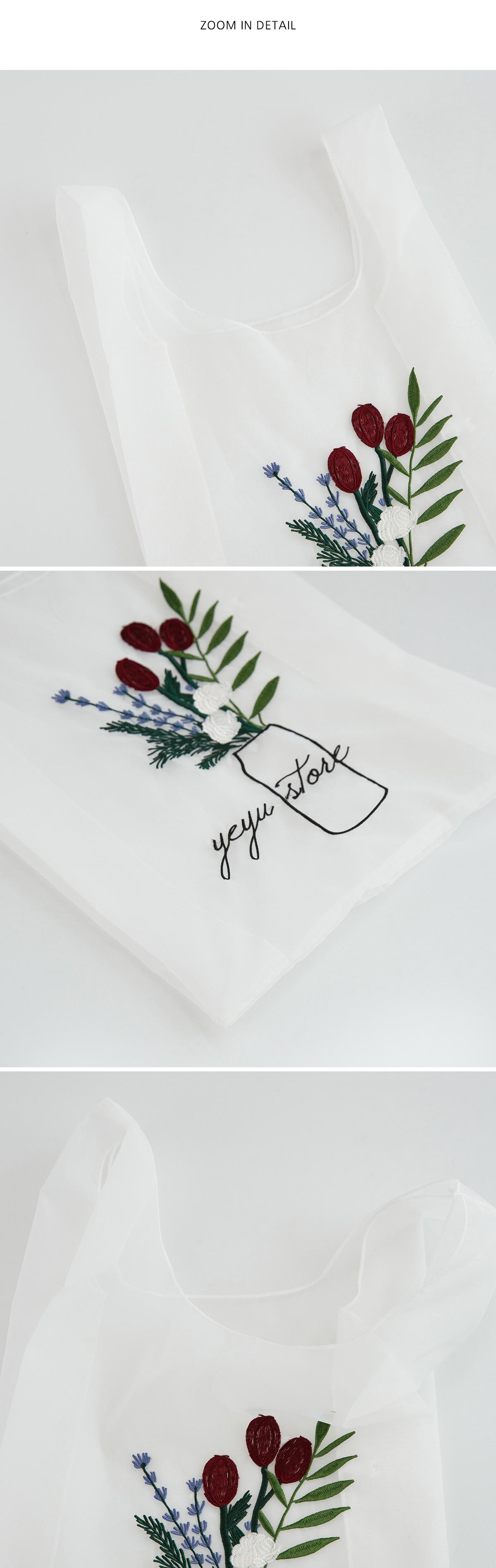 sheer embroidery bag