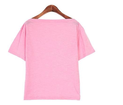 오프숄더 슬라브 티셔츠