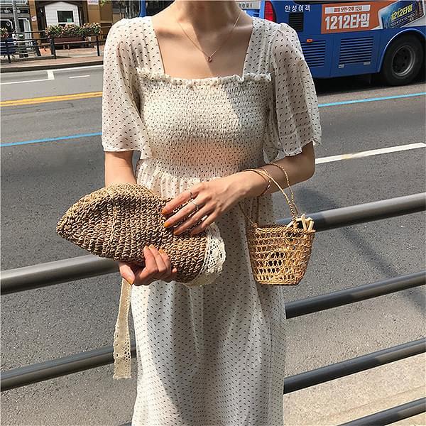 Chiffon Square Neck Dress