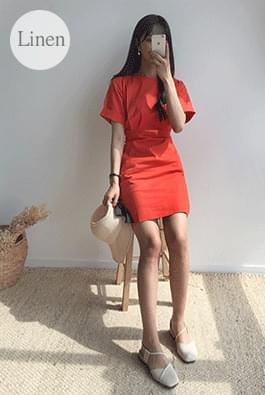 Linen Bending Mini Dress