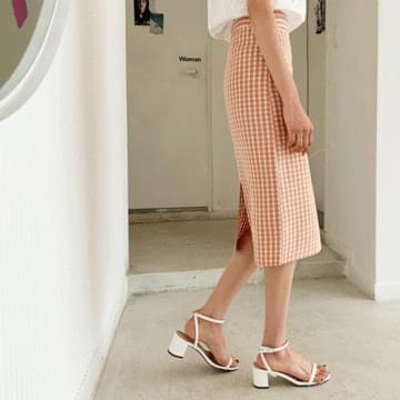 Uni-Check Midi Skirt