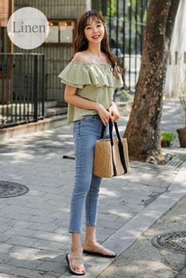 Off-linen blouse