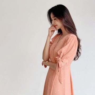Canna Dot Long Dress