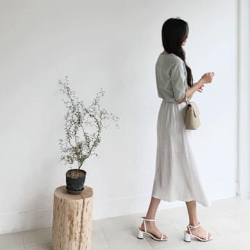 Remy Linen Long Skirt