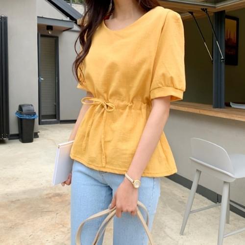 Linen string blouse