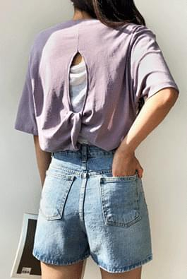 Back twist t-shirt