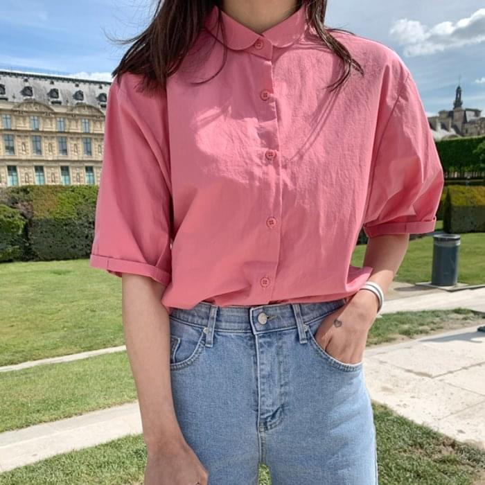 PBP. Volume Sleeve Summer Short Sleeve Shirt