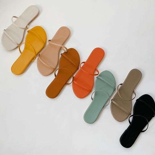 Color Two Line Slippers