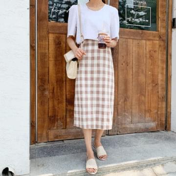 Linen ed puff blouse