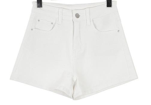 High waist slim fit pants