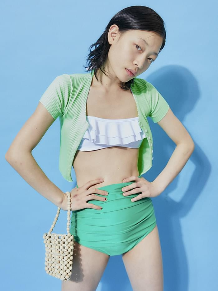 neon crop cardigan - woman