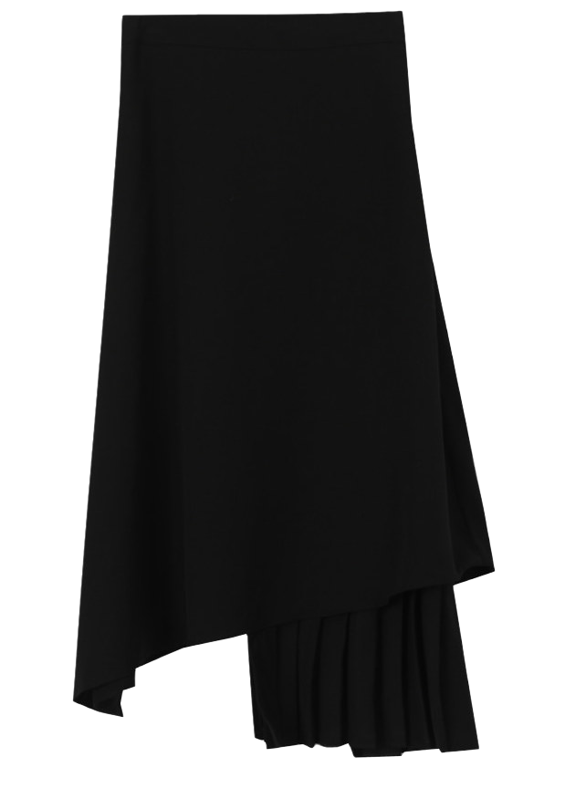 Two-Tone Uniform Long Skirt