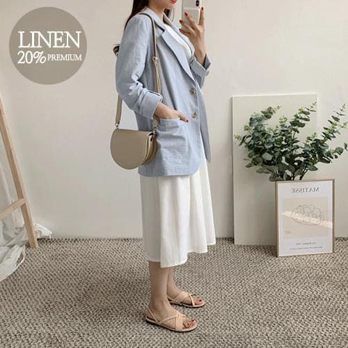 Palms basic linen jacket