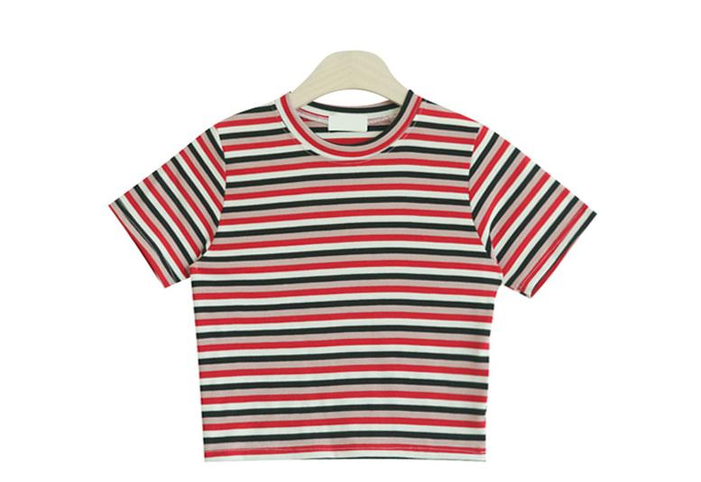 Garden double stripe short-sleeved polo shirt