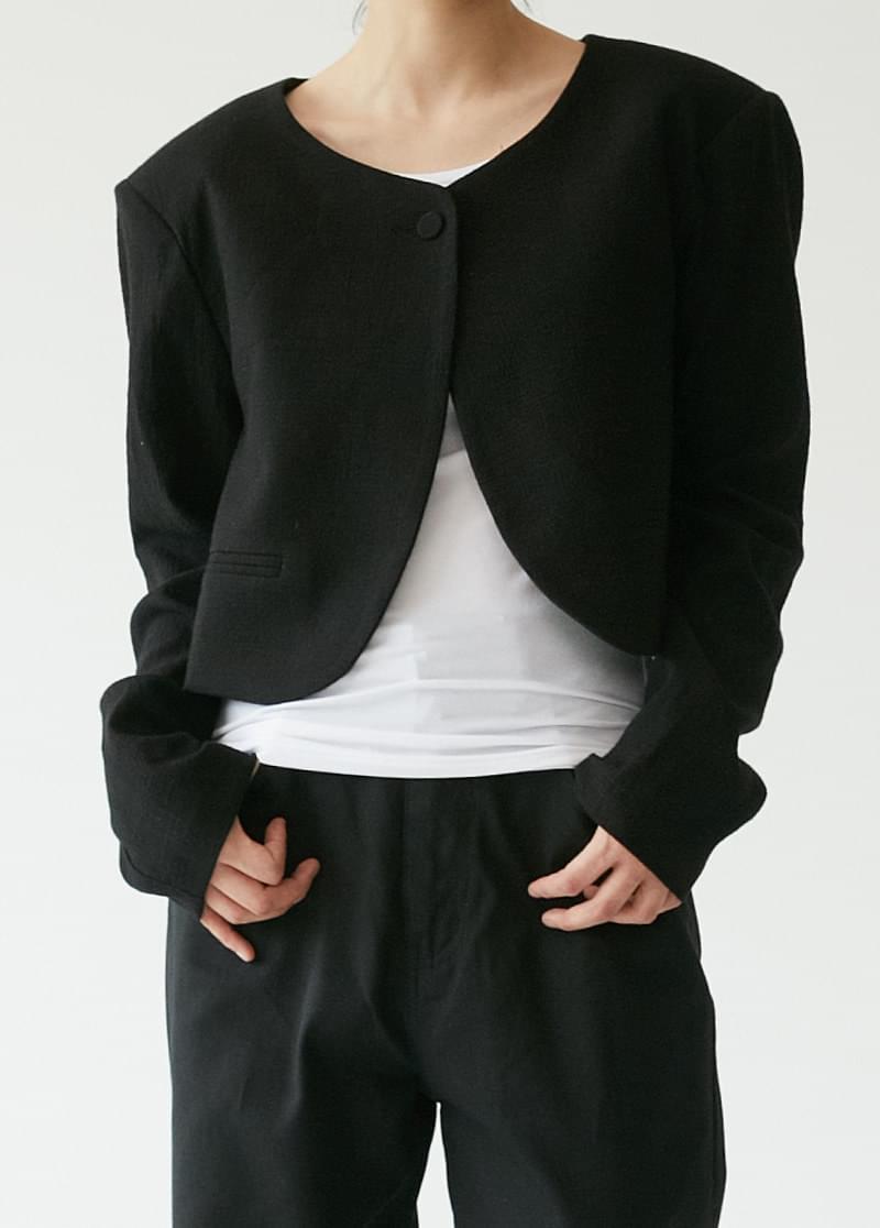 Crop Lip Pocket Jacket