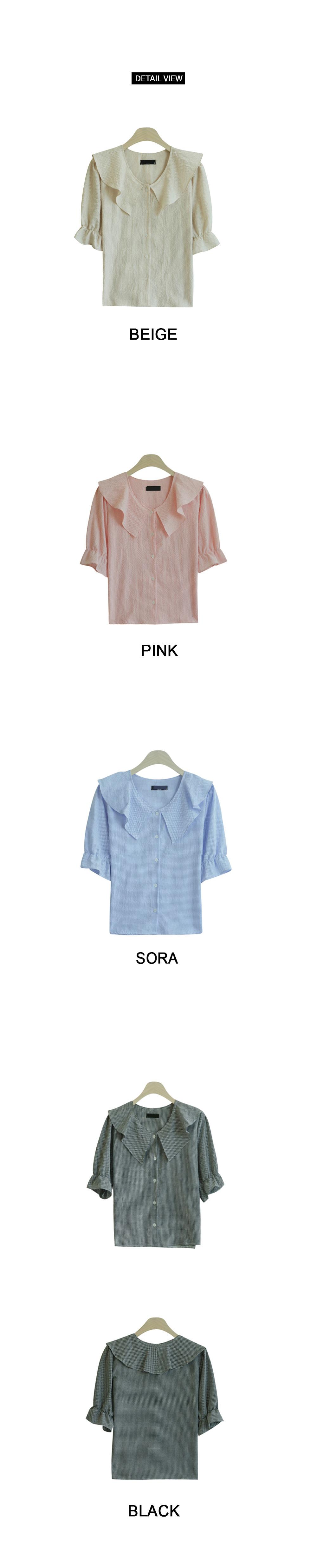 Serra check short sleeve blouse