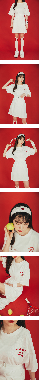 Lettering belt mini dress